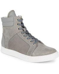 Kenneth Cole - Suede Hi-top Trainers - Lyst