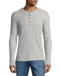 Joe's Collection - Long Sleeves Cotton Waffle Knit T-shirt - Lyst