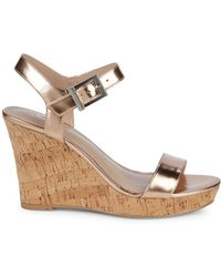 Charles David - Lindy Metallic Wedge Sandals - Lyst