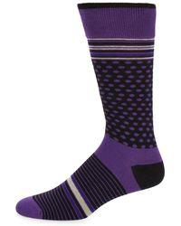 Bruno Magli - Mixed Pattern Socks - Lyst