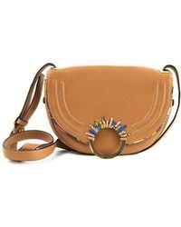 Sam Edelman - Rio Half Moon Leather Saddle Bag - Lyst