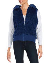 Kensie - Sherpa Hooded Vest - Lyst