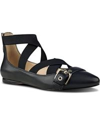Nine West - Leather-blend Strappy Flats - Lyst