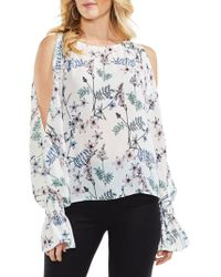 Vince Camuto - Flared-cuff Cold-shoulder Blouse - Lyst