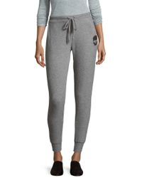 Chaser - Slim Slouchy Heathered Pants - Lyst