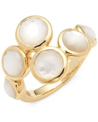 Ippolita - Lollipop Mother-of-pearl And 18k Gold Ring - Lyst