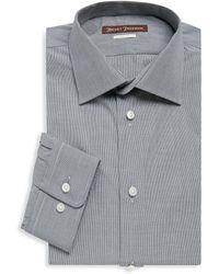 Hickey Freeman - Micro Checkered Cotton Dress Shirt - Lyst