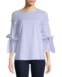 Spense - Striped Roundneck Blouse - Lyst