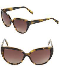 Balmain - 57mm Butterfly Sunglasses - Lyst