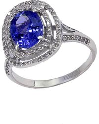 Effy - 14kt. White Gold Tanzanite And Diamond Ring - Lyst