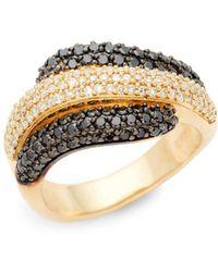 Effy - 14k Yellow Gold Layered Diamond Ring - Lyst
