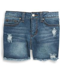 Joe's - High-rise Distressed Denim Shorts - Lyst
