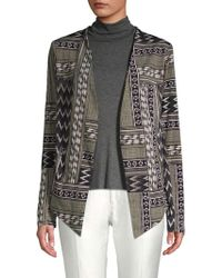BCBGeneration - Mixed Print Open-front Jacket - Lyst