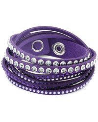 Swarovski - The Iconic Crystal And Leather Bracelet - Lyst
