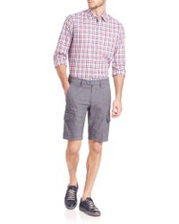 Saks Fifth Avenue - Button-front Checked Shirt - Lyst