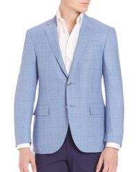 Corneliani - Plaid Blazer - Lyst