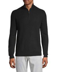 Saks Fifth Avenue - Textured Quarter-zip Wool Sweater - Lyst