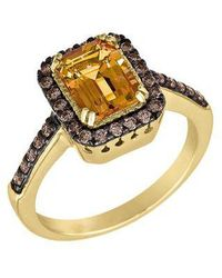 Le Vian - Chocolate Diamond, Cinnamon Citrine And 14k Yellow Gold Ring - Lyst