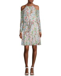 Julia Jordan - Floral Cold-shoulder Dress - Lyst