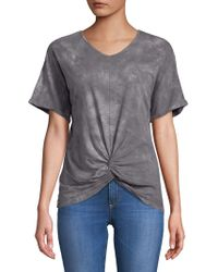 C&C California - Knotted Front-tie Tops - Lyst