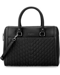 Karl Lagerfeld - Agyness Quilted Leather Satchel Bag - Lyst