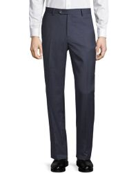 Lubiam - Wool Pants - Lyst