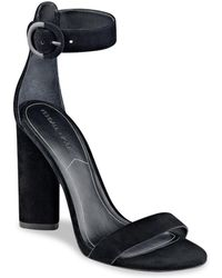 Kendall + Kylie - Giselle High-heel Suede Ankle Strap Sandals - Lyst