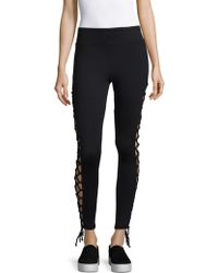 Badgley Mischka - Barby Cut-out Stretchable Leggings - Lyst