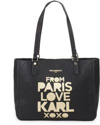Karl Lagerfeld - Bubble Faux Leather Tote - Lyst