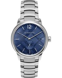Burberry - Stainless Steel Blue Check-print Bracelet Watch- Bu10007 - Lyst