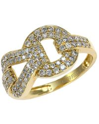 Effy - Diamond And 14k Yellow Gold Ring, 0.69 Tcw - Lyst