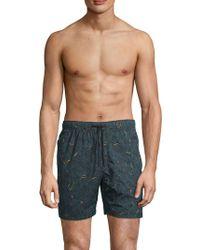 Zanerobe - Foliage Laguna Swim Shorts - Lyst