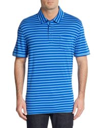 Saks Fifth Avenue Black - Slim-fit Striped Ice Cotton Polo Shirt - Lyst