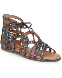 Gentle Souls - Break My Heart Foiled Leather Sandals - Lyst