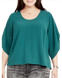 RACHEL Rachel Roy - Flutter Sleeves Top - Lyst
