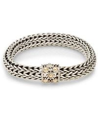 John Hardy - Dot Sterling Silver & 18k Yellow Gold Braid Bracelet - Lyst
