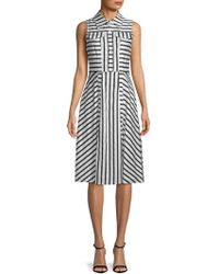 Julia Jordan - Sleeveless Striped Shirtdress - Lyst