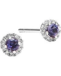 Meira T - Diamond, Crystal And 14k White Gold Stud Earrings - Lyst