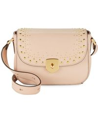Cole Haan - Stud Leather Crossbody Bag - Lyst