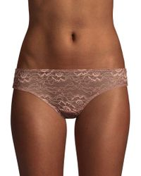 Samantha Chang All Lace Scalloped Briefs - Brown
