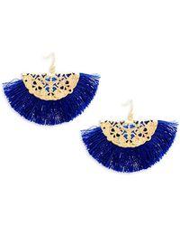 Panacea - Fringe Drop Earrings - Lyst