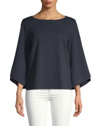 Lafayette 148 New York - Boatneck Relaxed Top - Lyst