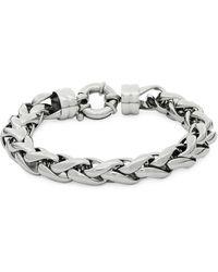 Saks Fifth Avenue - Stainless Steel Round Braided Bracelet - Lyst