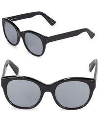 5c4438f8961 Lyst - Sunday Somewhere Soelae 46mm Rainbow Round Sunglasses in Black
