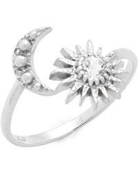 Anzie - Sun And Moon Topaz And Sterling Silver Ring - Lyst