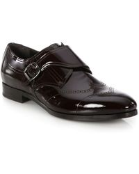 Jimmy Choo - Patent Leather Monk-strap Shoes - Lyst
