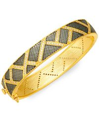 Freida Rothman - Textured Ornaments Mosaic Pavé Bangle - Lyst