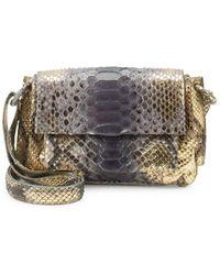 Nancy Gonzalez - Python & Crocodile Strap Shoulder Bag - Lyst
