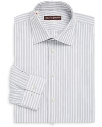 Hickey Freeman - Wide Stripe Classic-fit Cotton Casual Button Downshirt - Lyst