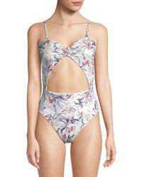 Rachel Roy - One-piece Floral Swimsuit - Lyst